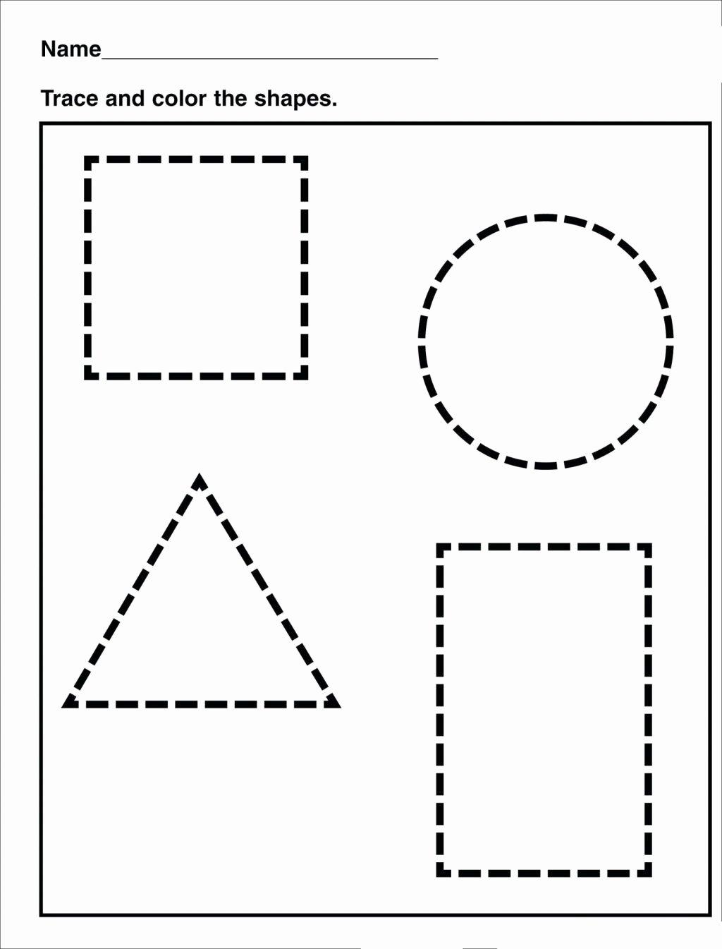 Traceable Shapes Worksheets For Preschoolers