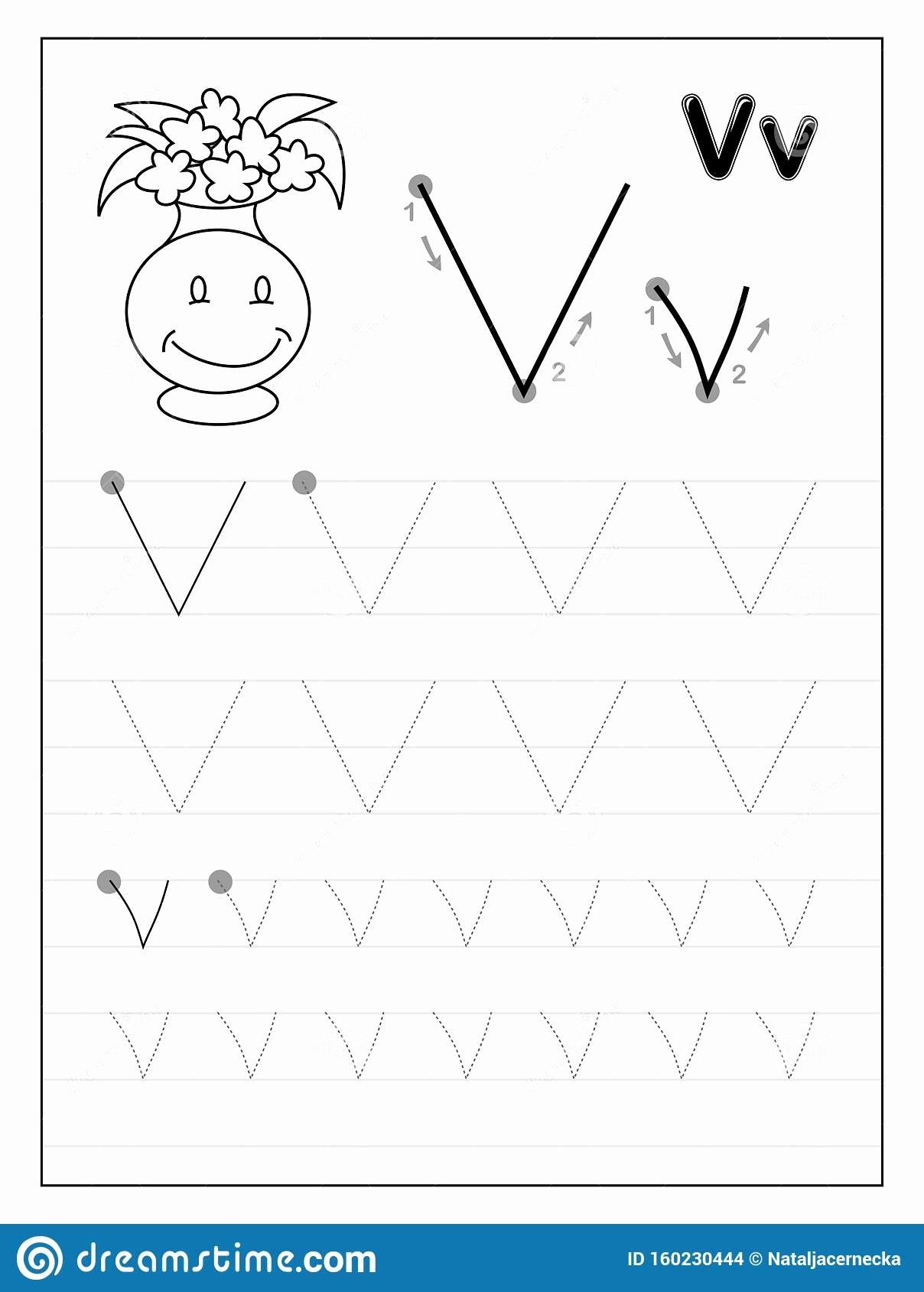 V Worksheets For Preschoolers