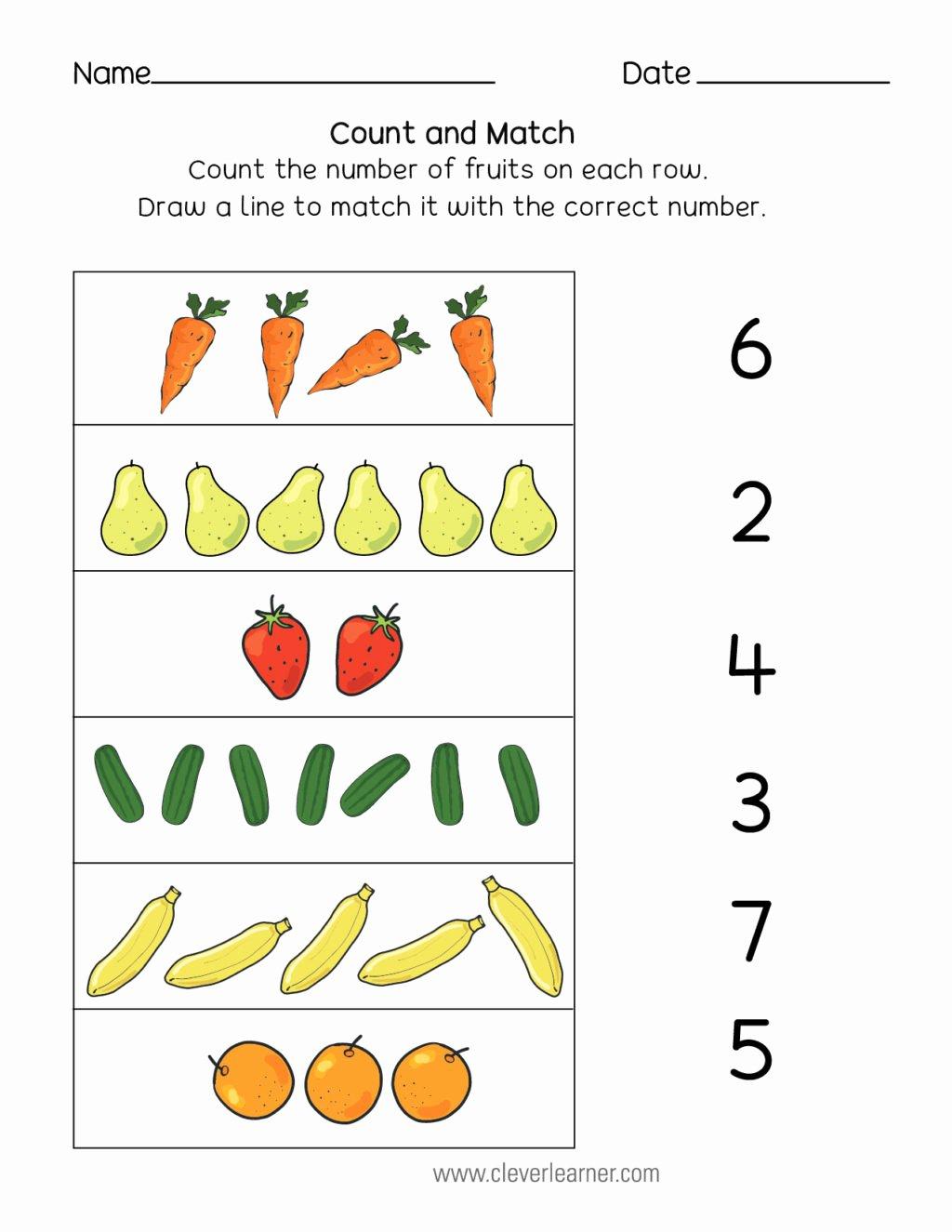 Worksheets For Preschoolers Matching
