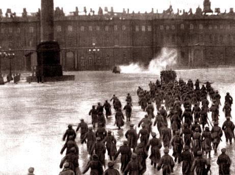 La prise du Palais d'Hiver en octobre 1917