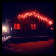 Forest Ridge Campgroundsa and Cabins | Allegheny Cabin - at night!