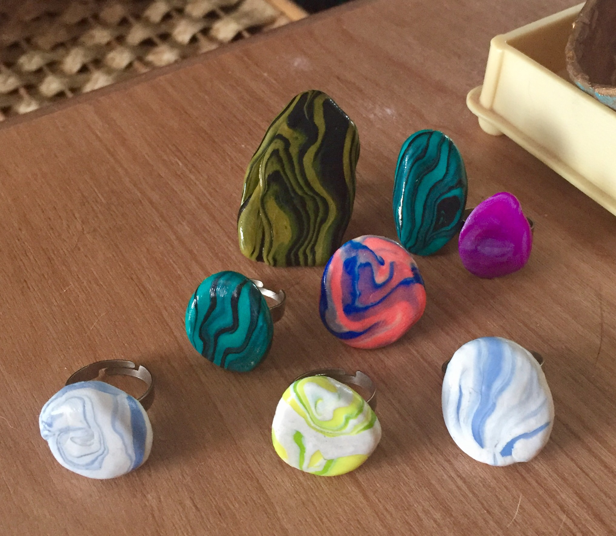 Faux Stone Rings