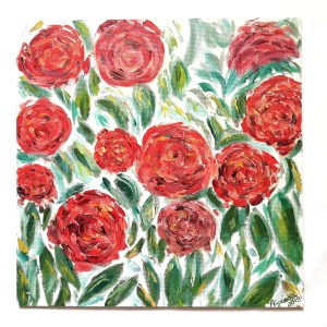 red roses painting