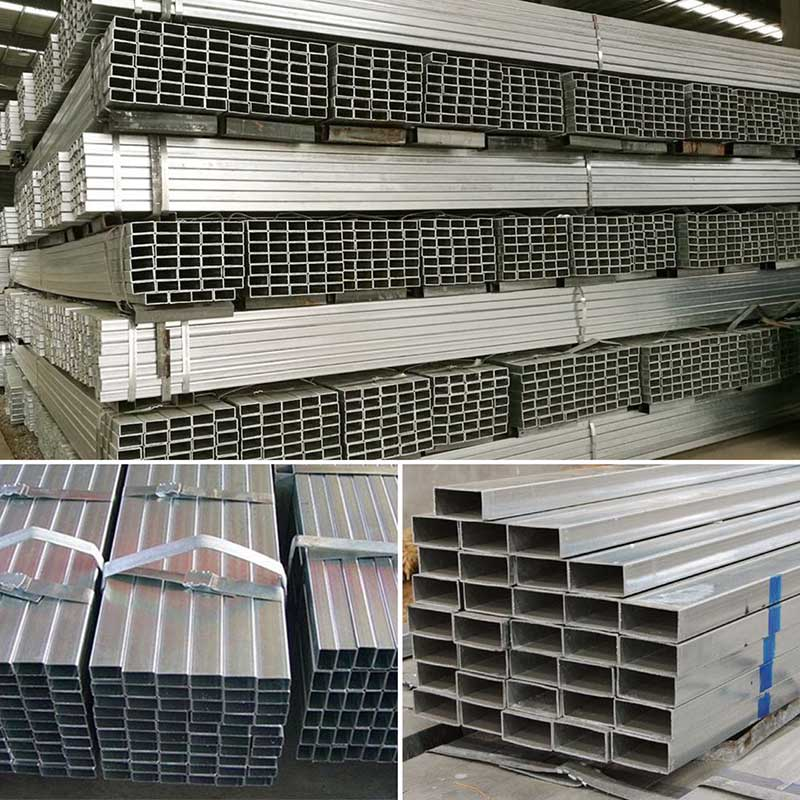 Tubo / tubo retangular de aço galvanizado