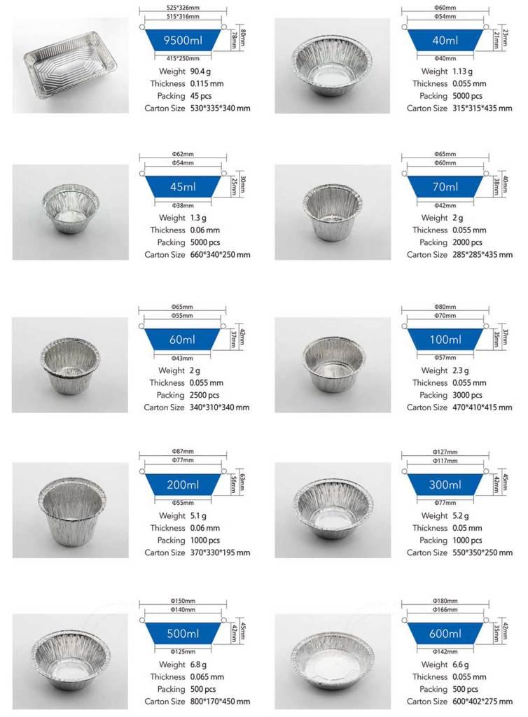 Aluminum foil container 06