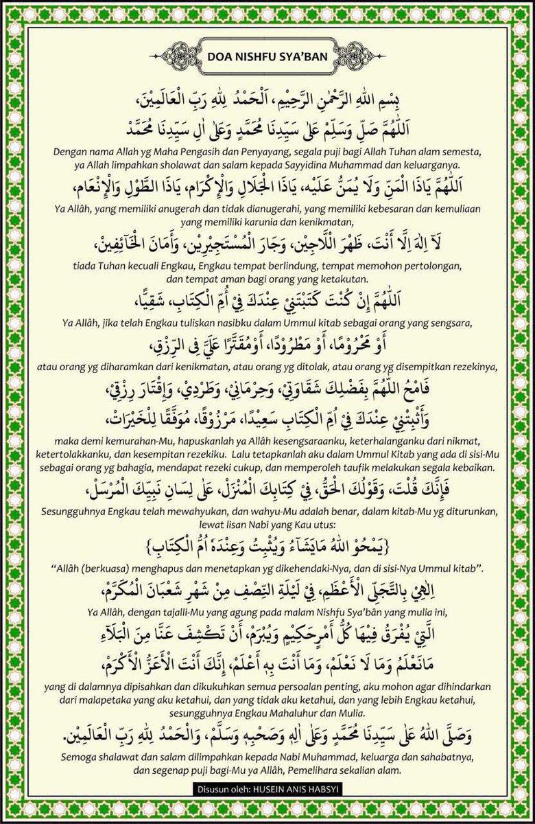 Malam Nisfu Syaban 2019 : malam, nisfu, syaban, Benefit, Fasting, Nisfu, Sya'aban, APPLICATION