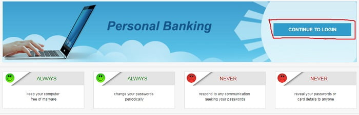 SBI Continue Login
