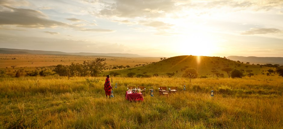 Bush breakfast in the Serengeti at Lemala Ewanjan