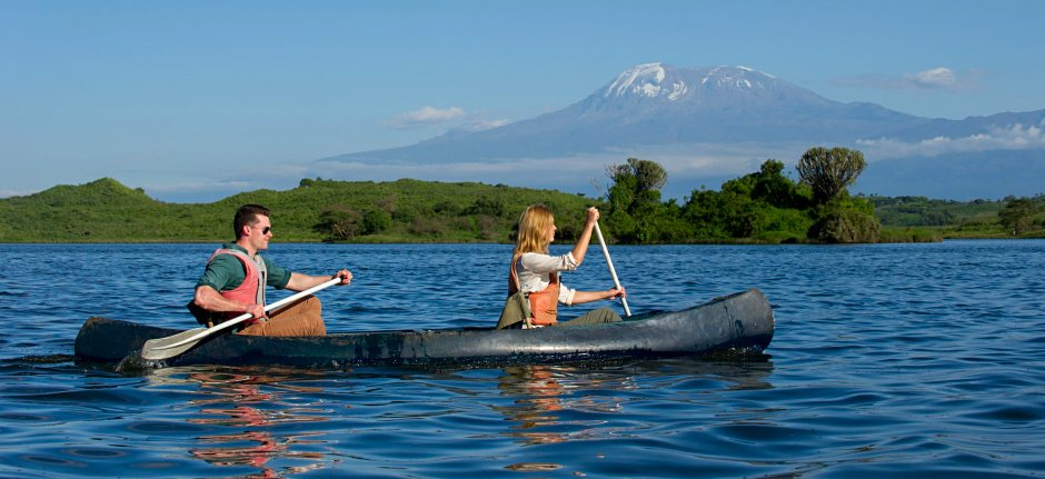 Canoeing at Momella Lakes in Arusha National Park