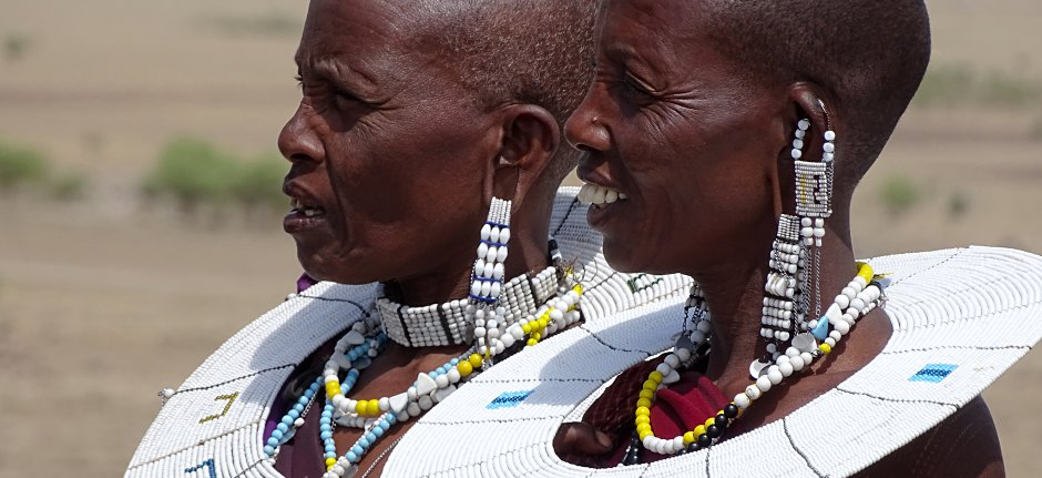 Traditional Maasai women in Tanzania