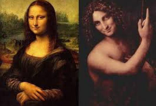 Lukisan Monalisa and Salai (Gian Giacomo Caprotti)