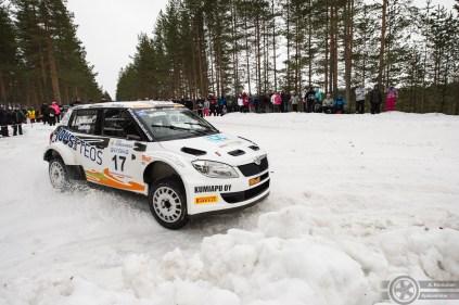 #17 Teemu Suninen / Skoda Fabia S2000. Pohjanmaa-ralli, EK3.