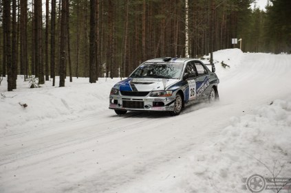 #26 Jarkko Hosike / Mitsubishi Lancer Evo 9. Pohjanmaa-ralli, EK3.