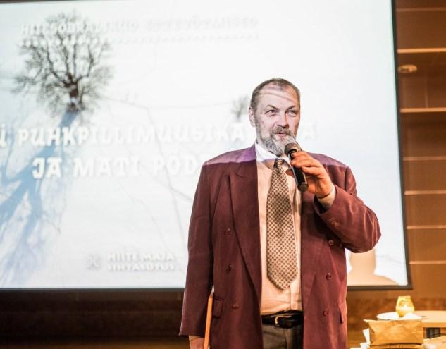 Mati Põdra Hiie väe sündmusel Tartus Eesti Maaülikooli aulas 30.11.2019. Kuva: Kiur Kaasik