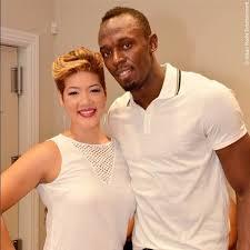 Tessanne Chin and Usain Bolt