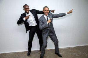 President Obama and Usain Bolt