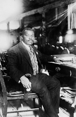 marcus garvey at his home