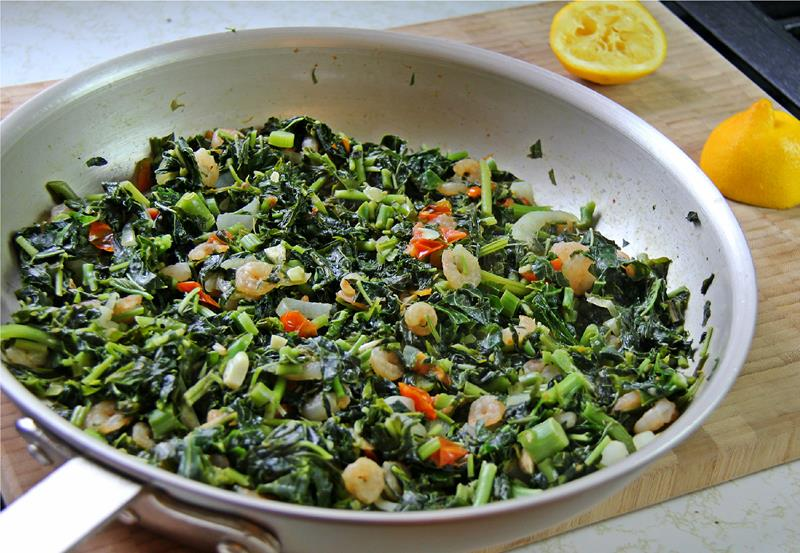 Jamaican Callaloo Recipe with Shrimps