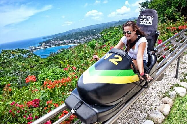 Bobsleighing down Mystic Mountain