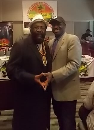 Denroy Morgan pic with Maxie D of AJE.