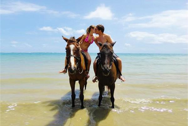 Horseback riding on Heritage beach