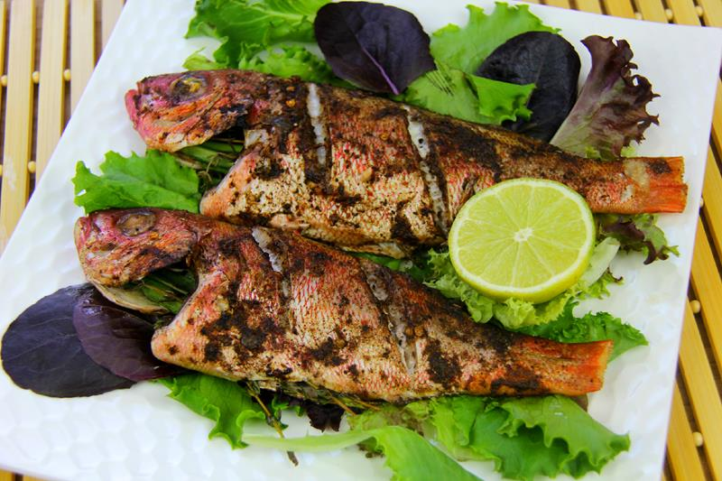 jerk fish (red snapper) in the oven