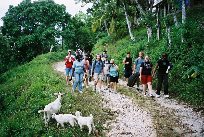 hiking in Jamaica