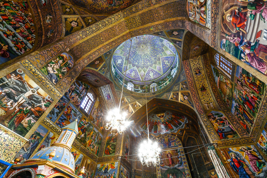 Interior of Vank Cathedral in Isfahan