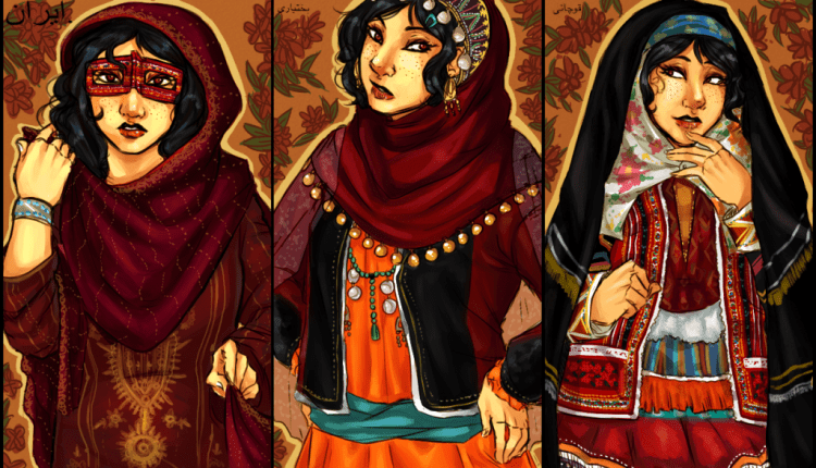 """Some more beautiful drawings of Iran from Sophy's """"Ask Iran"""" website"""