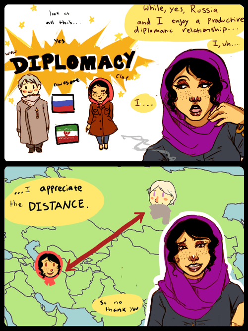 Sophy's illustration of Iran's relationship with Russia