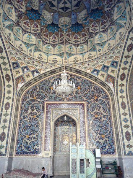 A mihrab in Sahn-e Qods