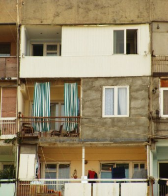 Left open or enclosed, balconies are still an important aspect of life at soviet social housing apartments.