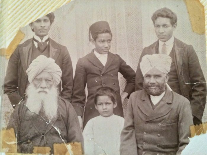 Family Portrait of Three Generations in Lahora, 1915. Contributed by Atif Sheikh. Ajam Digital Archive, http://www.ajammc.com/