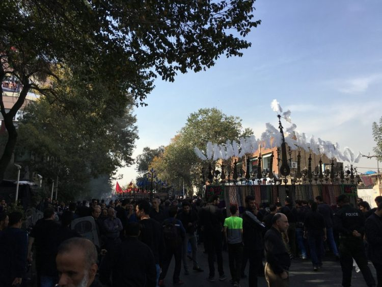 'Alamat in Tehran commemorating the third day after the marytrdom of Husayn.