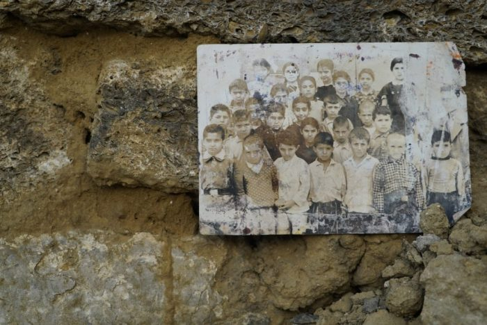 A photograph of school children found in a Sovetski demolition site.