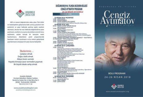 program - Anadolu Mektebi Öğrencileri Cengiz Aytmatov'u Anlatıyor