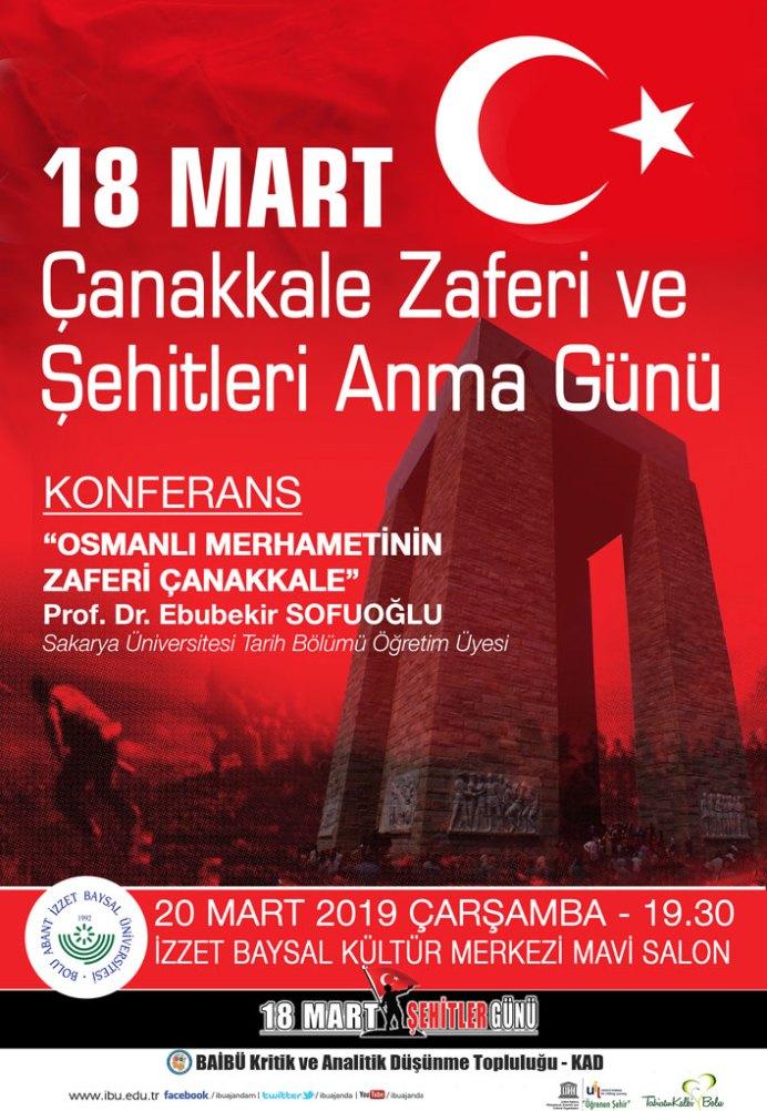 18martafis - 18 Mart Çanakkale Zaferi ve Şehitleri Anma Günü / Konferans
