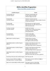 e Sertifika Programlari Page 04 - E-Sertifika Programları Hk. Duyuru
