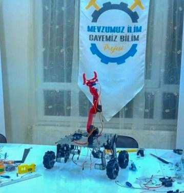 4 - Mevzumuz İlim Gayemiz Bilim Projesi ile İnsansız Kara Aracı Tasarlayarak Cumhurbaşkanlığından Davet Aldılar