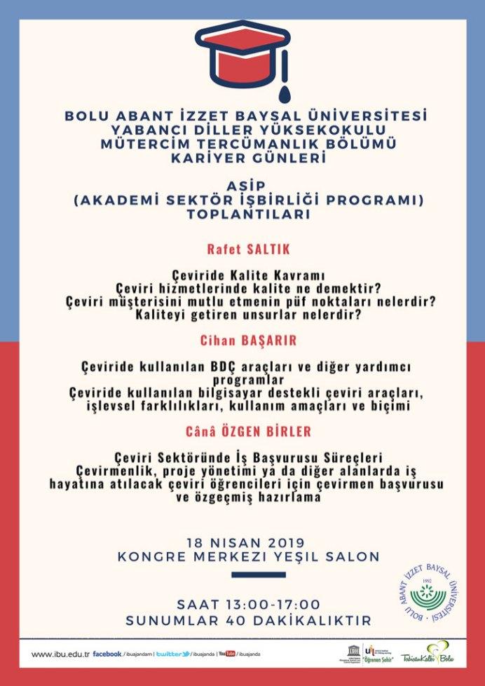 ASİPafis - Kariyer Günleri / AŞİP (Akademi Sektör İşbirliği Programı) Toplantıları