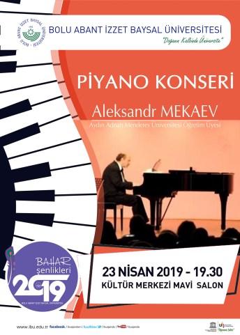 piyano - BAİBÜ Bahar Şenlikleri (22-23-24 Nisan 2019)