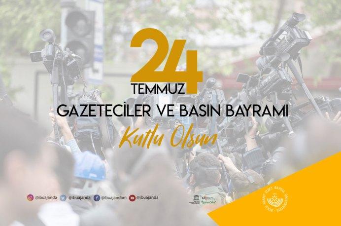 basın bayramı banner - 24 Temmuz Gazeteciler ve Basın Bayramı Mesajı