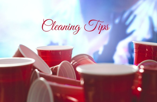 professional before and after party cleaning tips