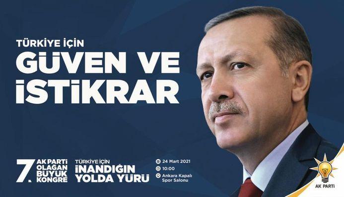 AK Parti'nin 7. Olağan Büyük Kongresi 24 Marta yapılacak