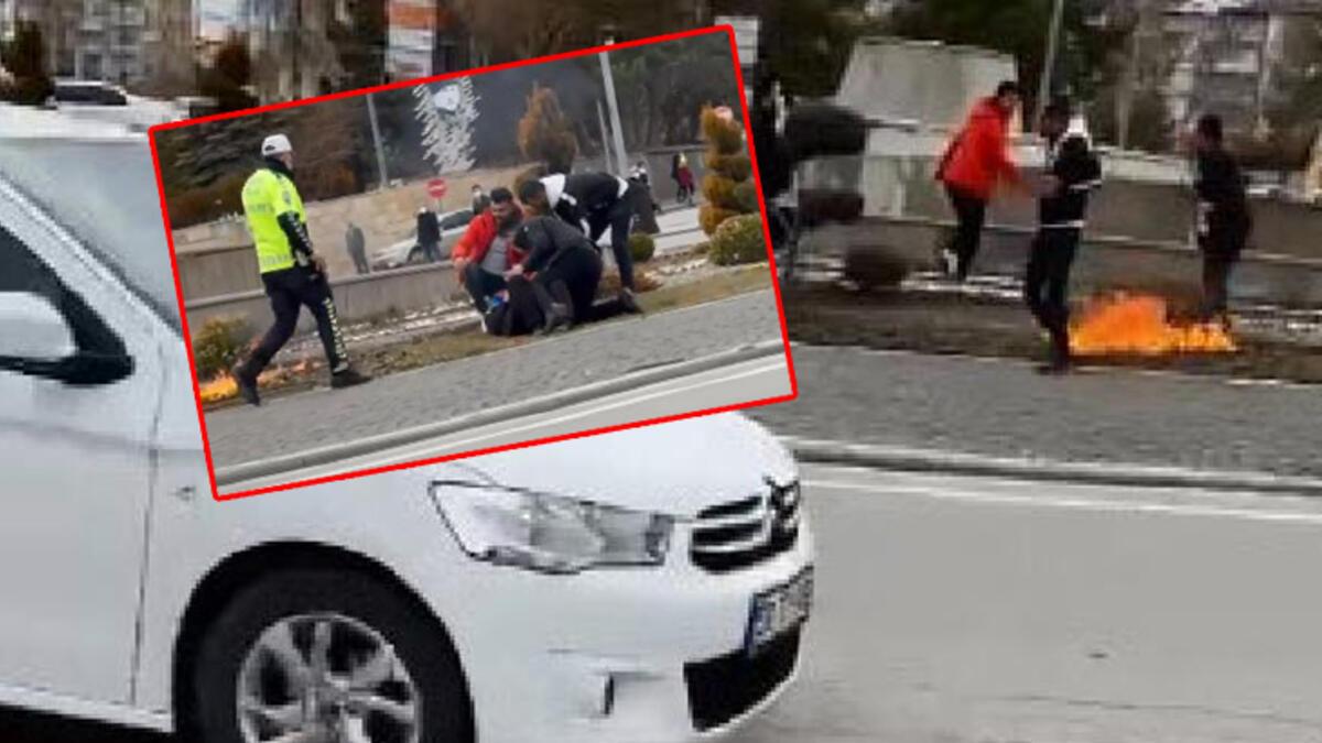 Diyarbakır'da bir kişi Üzerine benzin dökerek kendini yakmaya çalıştı