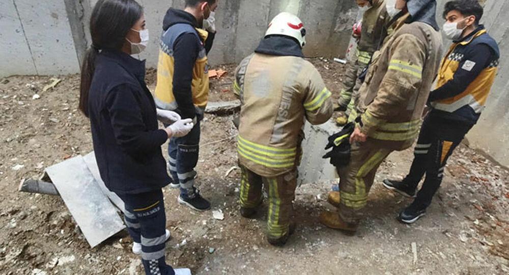 inşaattaki çukura düşen işçi hayatını kaybetti