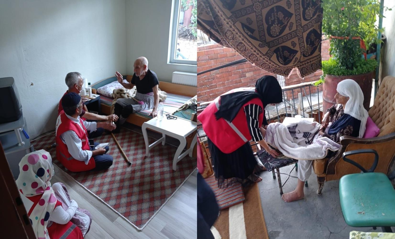 Kızılayı'ndan Dicle'de engelli, hasta ve yaşlı ailelere ziyaret