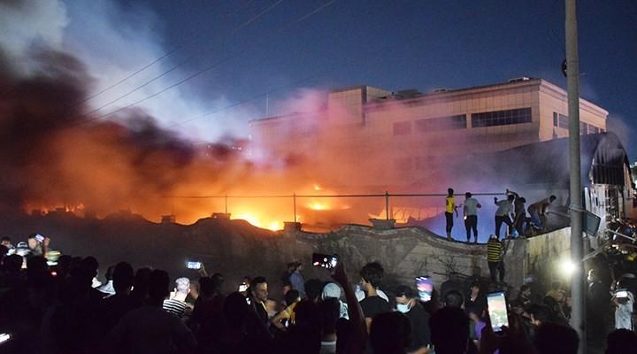 Irak'ta Covid-19 hastalarının kaldığı hastanede yangın: 64 ölü