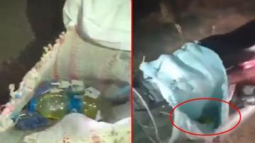 Manavgat'ta terk edilmiş bir motosiklette molotof düzeneği bulundu