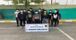 Batman'da kaçak göçmenler İHA ile tespit edilerek yakalandı